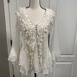 Pretty Angel silk layered boho blouse